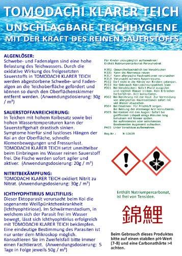 Tomodachi Algenmittel, Fadenalgenfrei, Algenvernichtung und Teichhygiene durch Aktivsauerstoff, Klarer Teich 10kg Nachfüllpack im PE-Sack