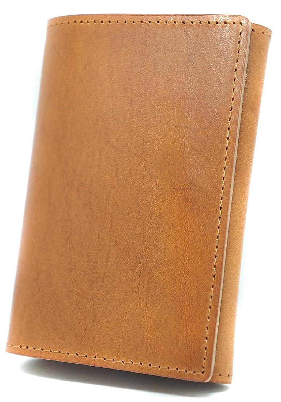 極上イタリア製レザー 高級 カードケース 本革 名刺入れ ブラウン ME0174_c1