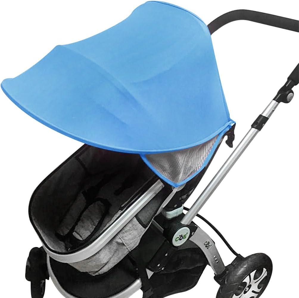 Universal Sonnendach Sonnenschutz Sunshade Sonnenschirm Baby Sonnenverdeck UV Schutz f/ür Kinderwagen Buggy Sportwagen,faltbar,pink