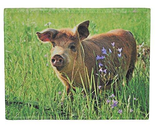 alles-meine.de GmbH Filz Unterlage - Schwein - 40 cm * 30 cm - Tischunterlage - Tischset / Platzdeckchen / Eßunterlage / Platzset für Kinder Erwachsene Tiere Schweine Stoff Filzu..