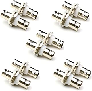 ANHAN BNC Female to Female Bulkhead Adapter BNC Jack Insulated Connector RF BNC Adapter Coax Straight Connectors 10packs