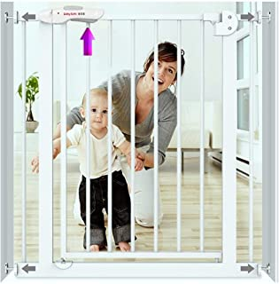 Baby Gates for Stairs Guardrail Free Punching Baby Gate Pressure Mount Baby Child Safety Gate Bar Dual Lock Self Closing