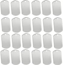 Orgrimmar 100 Shiny Stainless Steel Military spec Rolled Edge Backing Dog Tags - Blank