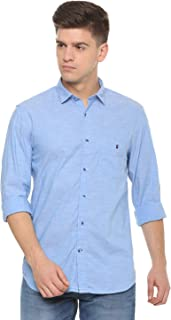 Louis Philippe Sport Men's Solid Slim Fit Casual Shirt