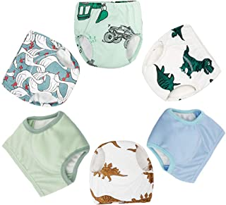 Baby Cotton Training Pants 6-Pack Padded 6 Layer Potty Training Underwear for Toddler Boys and Girls
