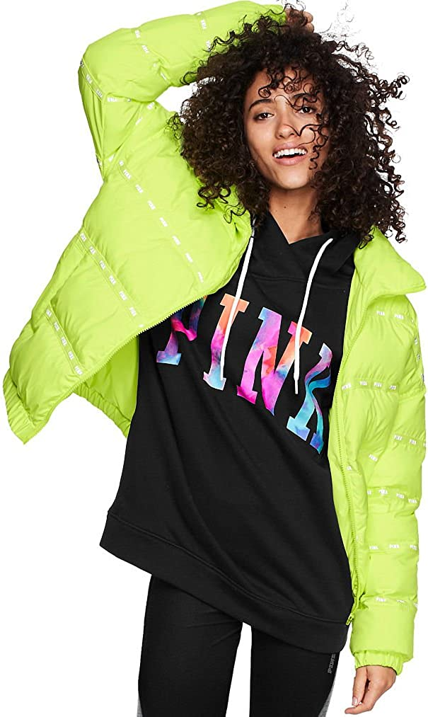 Victoria's Secret Pink 推奨 Puffer Jacket Lime Larg NWT Size 時間指定不可 Lighting
