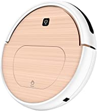 FENGRUI FR-6S Robot Vacuum Cleaner and Rag Not Mop Remote Control HEPA Filter for Pets Dog Hair Hardwood Floor Surfaces Home Gold