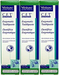Virbac Dental Chews CET103-3 Vanilla-Mint Toothpaste (3 Pack), 2.5 oz
