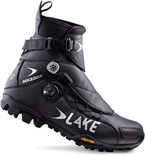 Lake Cycling 2017 Men's MXZ303-X Wide Mountain Cycling Shoes - Black (Black - 42)