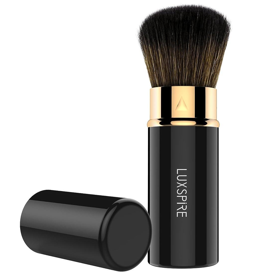 ほんの子羊小人ファンデーションブラシ - Luxspire メイクブラシ 伸縮可能 防塵でき 化粧筆 コスメブラシ 繊細な人工毛 毛質やわらかい 肌に優しい