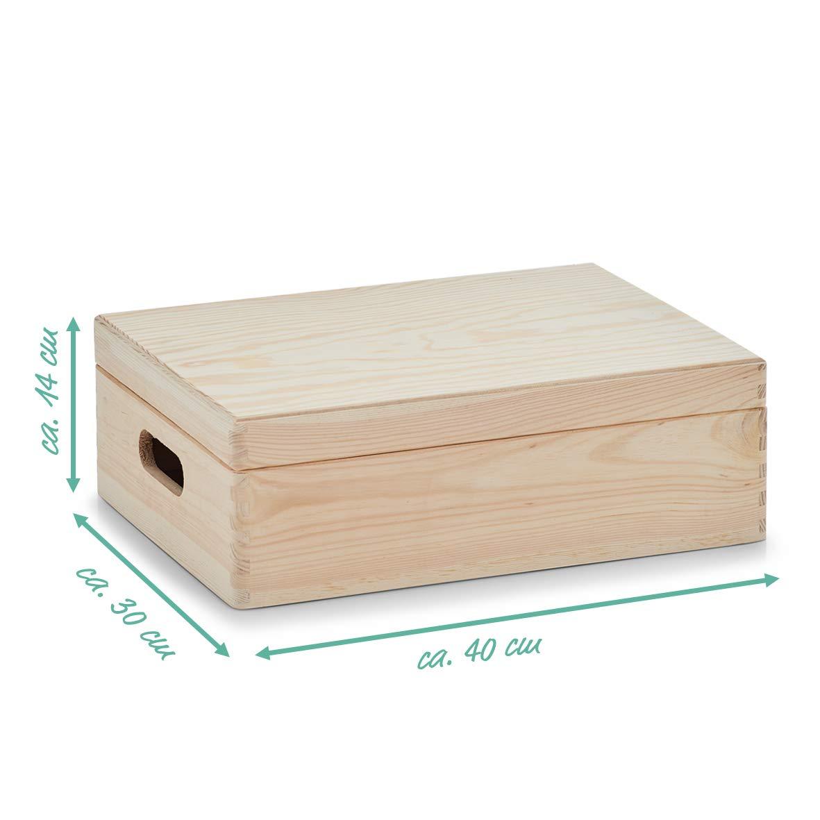 Zeller 13151 Caja Multiusos con Tapa, Madera, Marrón, 40x30x14 cm ...