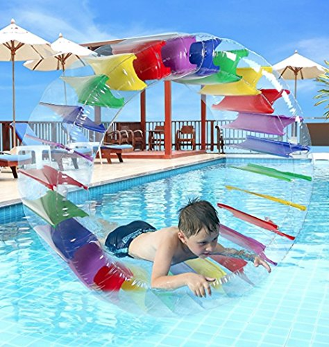 Giant Inflatable Wheel, PVC Material, Bright Colors, Ideal For Any Pool, Perfect For Kids Up To 3 Years Of Age, Easy Inflation And Deflation, Sturdy And Durable Construction & E-Book Home Decor