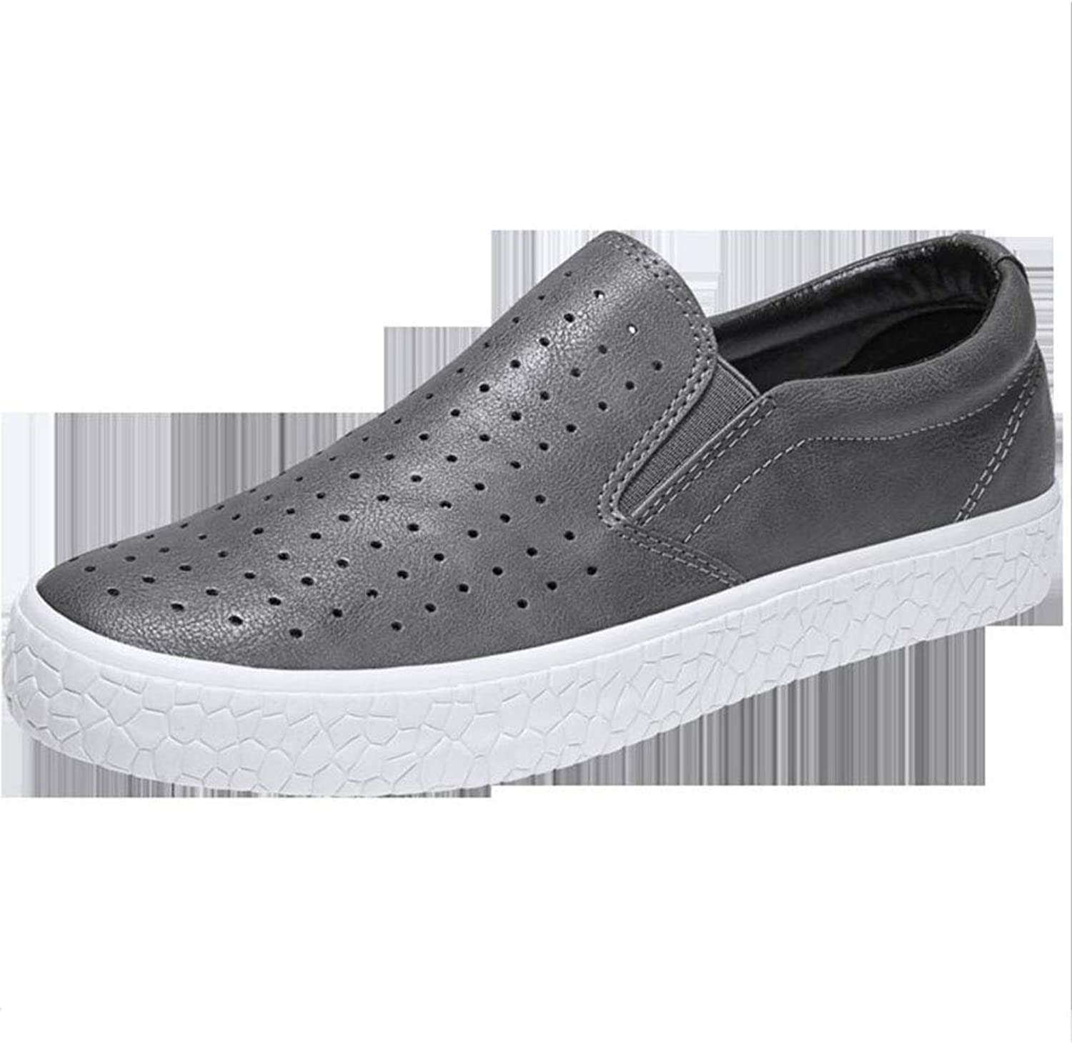 Hy Men's Casual shoes ,Breathable Microfiber Hundred Take shoes Loafers & Slip-ONS Lazy shoes Peas shoes Walking shoes