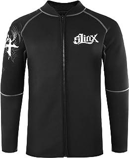 MORGEN SKY ウェットスーツ メンズ 3mm 長袖ジャケット フロントジッパー タッパー 裏起毛 沢登り 釣りウェア フィッシングウェア 保温防寒 1109C