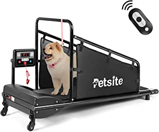 Goplus Dog Treadmill, Fitness Pet Treadmill Indoor Exercise for Dogs Up to 200 lbs, Pet Exercise Equipment with Remote Control, 1.4'' Display Screen, Suitable for Small/Medium-Sized Dogs