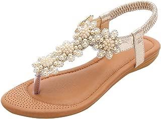 Lurryly Womens Flat Sandals,Hemp Rope Flip Flops Sandals Roman Beach Shoes Slippers