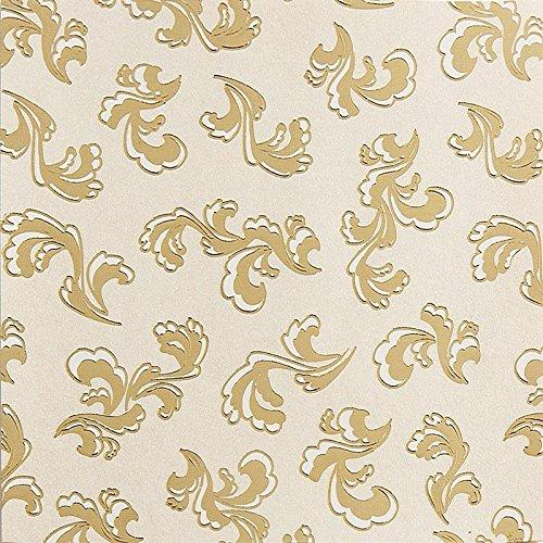 Edel-Faltpapier, Perlmutt, folienveredelt, 10x10 cm, 100 Blatt, gold | Papier für verschiedene Falttechniken, Origami, Bastelpapier | Rund ums Jahr | Weihnachten | DIY, Kunst, Handwerk (Design 5)