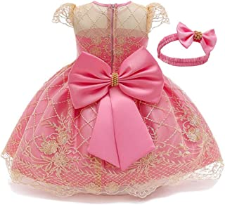 Toddler Girls Flower Lace Holiday Party Christmas Dress