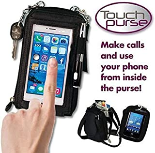 BESTOW® Touch Purse ipad Touch Transparent Case Pouch for All Smartphones