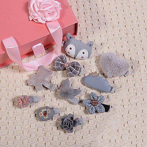 FTHIYK Meisje Haaraccessoires Set Baby Haarspeld Leuke Kleine Dier Side Clip Gift Box Headdress Verjaardag 10 stks
