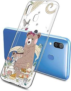 Suhctup Compatible con Samsung Galaxy A81/M60S Funda de Transparente Silicona con Dibujos Lindo Animados Animal Diseño Patrón Cárcasa Suave Flexible Ultrafina TPU Antigolpes Protección Caso, Oso