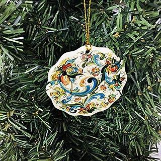 Lplpol Norwegian Rosemaling Ceramic Ornament