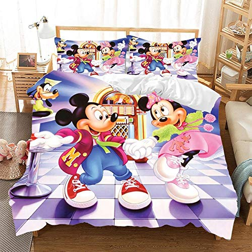 Mickey and Minnie Mouse dancing Bedding Set
