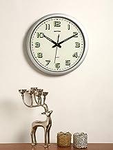 Rhythm (Japan) - 16.5 - Inch Wall Clock - 42x42x4Cms (Silent Movement, Silent Silky - Silver Plastic Case)