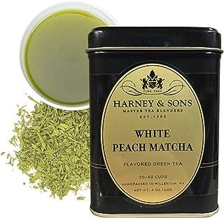 Harney & Sons White Peach Matcha Tea, Loose 4 Ounce tin