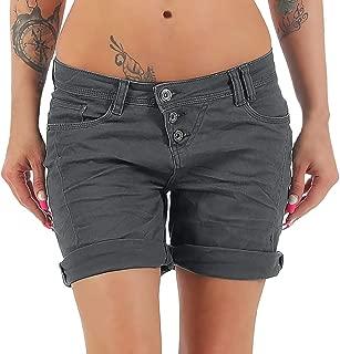 JOFOW Short Jeans Womens Denim Solid Summer Low Waist Midi Pants