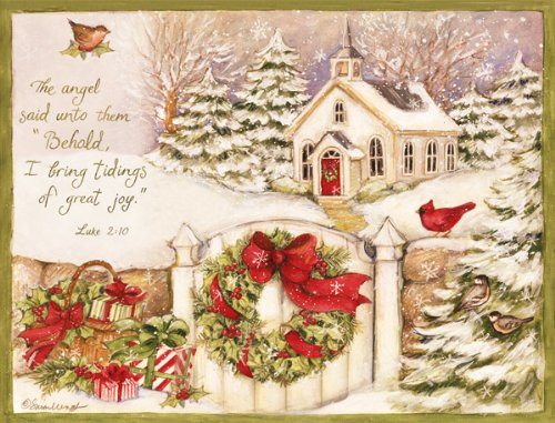 LANG 1004676 -'Gifts of Christmas', Boxed Christmas Cards, Artwork by Susan Winget' - 18 Cards, 19 envelopes - 5.375' x 6.875'