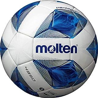 molten(モルテン) サッカーボール 一般・大学・高校・中学校用 5号球 国際公認球 検定球 ヴァンタッジオ4950 スノーホワイトパール×ブルー F5A4950