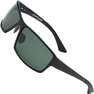 Xloop Polarized Aircraft Aluminum Metal Rectangular Sport Sunglasses For Men
