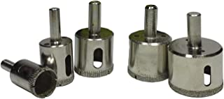 Alytimes 5 Pcs Diamond Drill Bits, Diamond Tools for Tile/Glass/Marble/Granite/Ceramic/Porcelain/Stone-Included Holesaw Size 3/4
