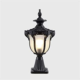 Post Lantern Single Head Decking Column Lamp IP65 Outdoor Bollard Pillar Light Aluminum Retro Exterior Decoration Terrace ...