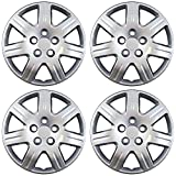 OxGord 16 inch Hubcaps Best for 07-11 Toyota Camry - (Set of 4) Wheel Covers 16in Hub Caps Silver Rim Cover - Car Accessories for 16 inch Wheels - Snap On Hubcap, Auto Tire Replacement Exterior Cap