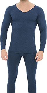 HshDUti Men's Thermal Underwear Set, Thermal Long Sleeve Top Thermal Trousers Long Johns Warm Underwear Baselayer Thermals...