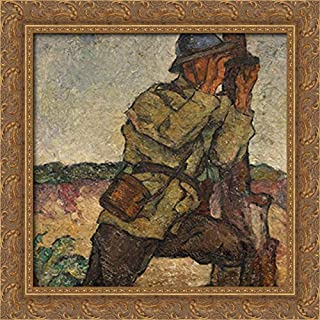 Scout 20x20 Gold Ornate Wood Framed Canvas Art by Ion Theodorescu Sion