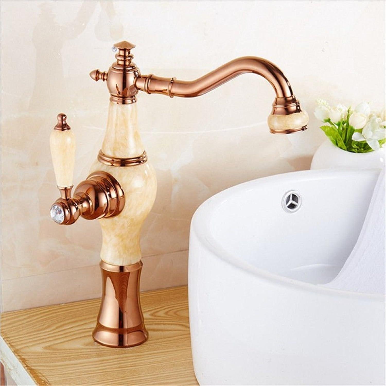Gyps Faucet Waschtisch-Einhebelmischer Waschtischarmatur BadarmaturTabelle Becken Jade Marmor Gold Hahn Waschbecken Kaltes Wasser Kim Wong Yuk,Mischbatterie Waschbecken