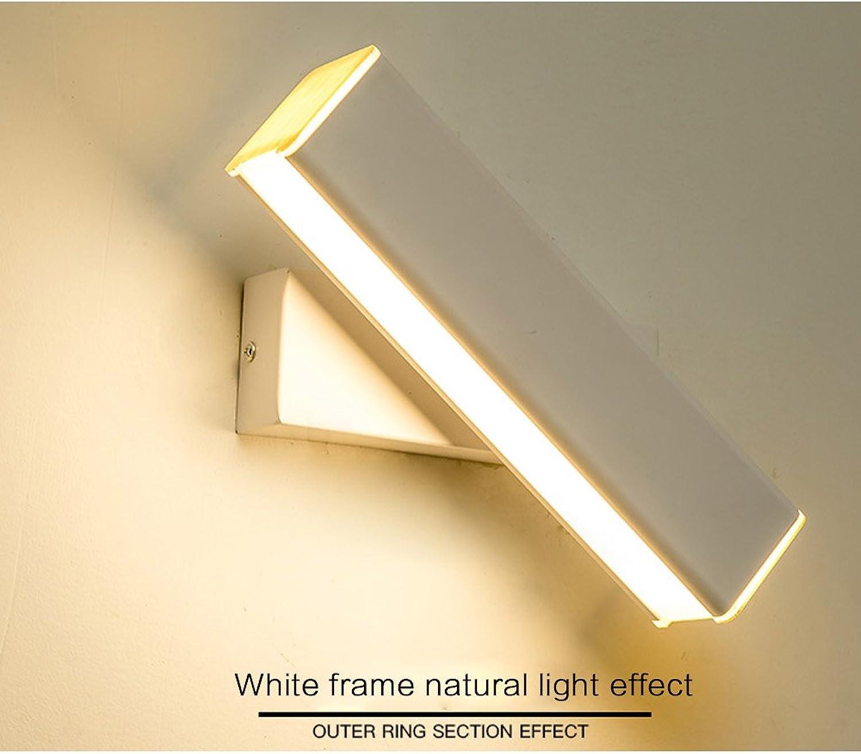 TLMY Nachttischlampe, einfach, modern, kreativ, für Wohnzimmer, skandinavische Beleuchtung, drehbar, Leselampe, Verdunkelungslicht, Schwarz Wei, Holzmaserung, Wandleuchte wei