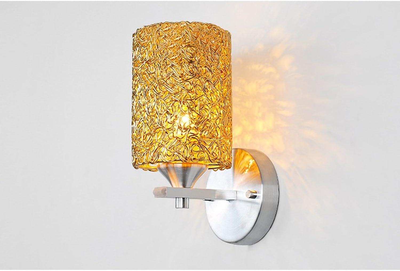 HCJBIDENG JCRNJSB Golden Creative LED Wandleuchte Wandleuchten Wohnzimmer Schlafzimmer Bedside Lampe Restaurant Gang Eingang warm und stilvoll Wandmontage, Beleuchtung (Farbe   Einzelkopf)
