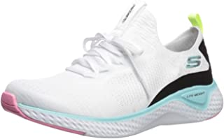 Skechers Solar Fuse Womens Fashion Trainers in White Multicolour - 11 US