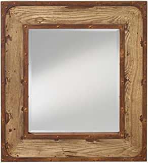 Feiss MR1227NO Mirror, Natural Oak