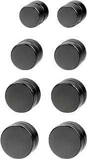 Joyería 6-12mm Pendientes hombre mujer, Non piercing negros pendientes de iman, estilo Hip Hop redondos pendientes pequeños, Aretes Atractivos
