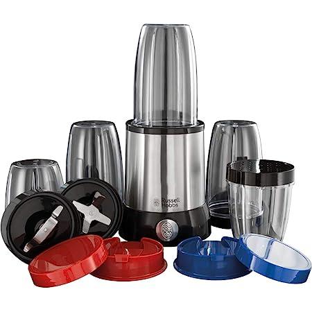 Russell Hobbs Blender Mixeur Multifonctions 700W, Préparations Vitaminées, 15 Accessoires - 23180-56 Nutriboost