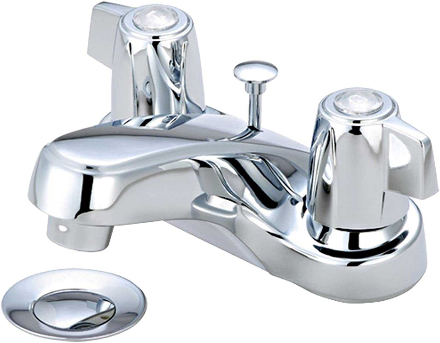 Aviditi Olympia Series L-7292 Elite Two Mini Blade Handle Lavatory Faucet with Brass Pop-Up Drain Assembly, Chrome