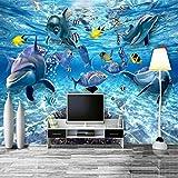 Msrahves posters para pared Océano colorido peces de aguas profundas póster Fotomurales 3D Foto-Mural Simplicidad...