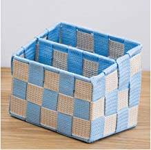XinQing-Storage basket Torage Basket Woven Tabletop Partition Basket Basket Color Beige Color Paste 9 * 14.5 * 10 * 11.8cm