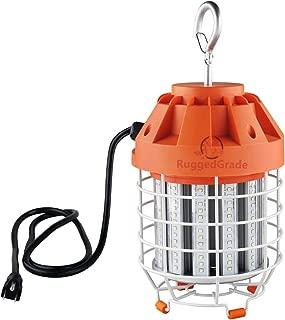 7,800 Lumen LED Work Light - 60 Watts LED Portable Lights - Construction Lights - Durable Work Light - 5000K Bright White- Linkable