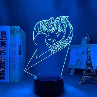 ثلاثية الأبعاد Led ليلة ضوء الوهم مكتب مصباح الجنية الذيل Natsu Dragneel لغرفة النوم الديكور هدية عيد ميلاد Anime-16 ألوان...
